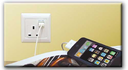UK Mains Socket with USB