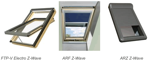 Fakro Z Wave Wireless Mesh Controlled Window Blinds