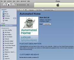 iTunes Automated Home Podcast