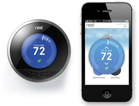 nest thermostat with iphone