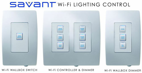 Savant Wi-Fi Lighting Control