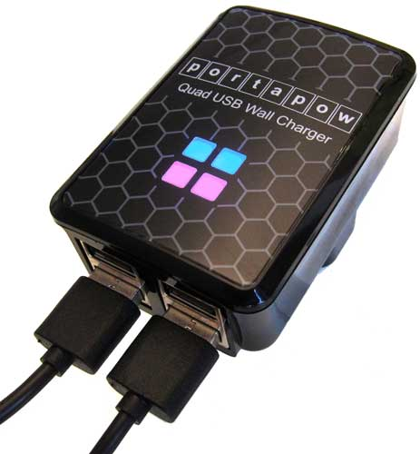 Portapow Quad USB Charger
