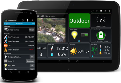 Imperihome Android App for Home Automation