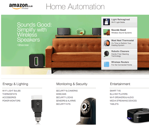 Amazon UK Home Automation Store