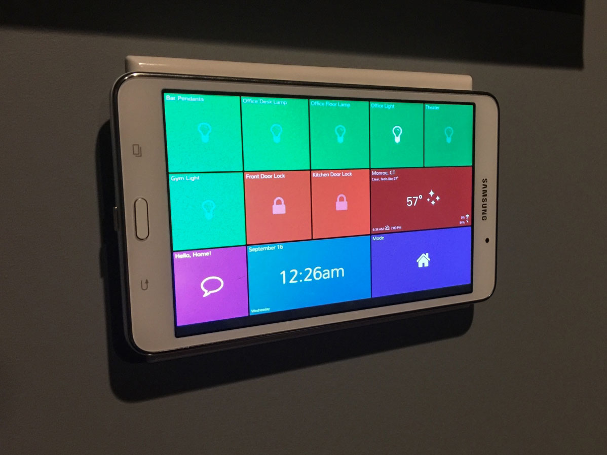 SmartTiles Wall Mounted Tablet Example from Macadoodle
