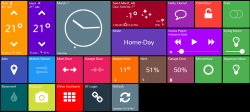 SmartTiles Dashboard for SmartThings - Metro Style