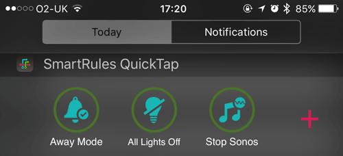 SmartRules QucikTap on iPhone
