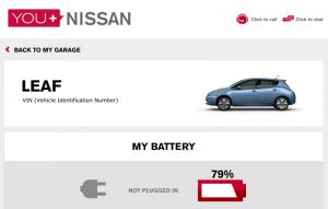 Nissan Leaf - Web Interface
