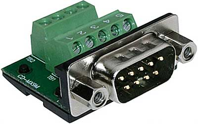 Screw Terminal RS-232 Serial Plug