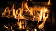 Log Fire - Wood Burning